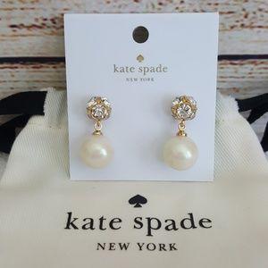 New kate spade Lady Marmalade Pearl Drop Earrings